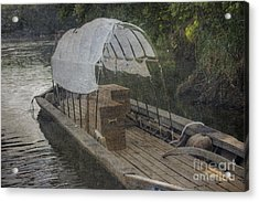 Acrylic Print featuring the photograph Evening At Port by Pete Hellmann