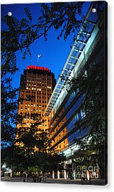 Evening At Ppl Plaza - Allentown Pa  Vertical Acrylic Print