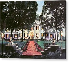 Evening At The Governor's Mansion Acrylic Print by David Lloyd Glover