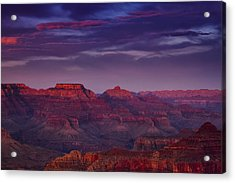 Evening At The Grand Canyon Acrylic Print by Andrew Soundarajan