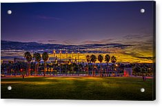 Evening At The Park Acrylic Print by Marvin Spates