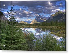 Evening At Vermillion Lakes Acrylic Print by Darlene Bushue