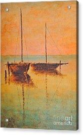 Evening Boats Acrylic Print