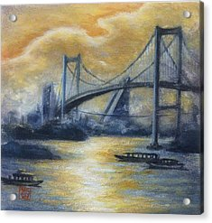 Evening Bridge Acrylic Print by Tomoko Koyama