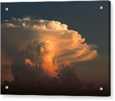 Acrylic Print featuring the photograph Evening Buildup by Charlotte Schafer