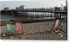 Evening By The Pier Acrylic Print by John Topman