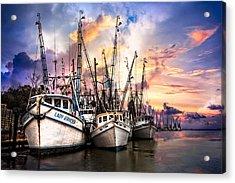 Evening Colors Acrylic Print by Debra and Dave Vanderlaan
