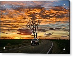 Acrylic Print featuring the photograph Evening Drive by Shirley Heier