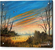 Evening Duck Hunt Acrylic Print