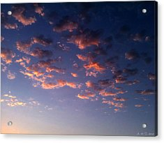 Evening Embracing Clouds Acrylic Print by Amanda Holmes Tzafrir