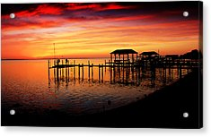 Evening Enchantment At The Hilton Pier Acrylic Print