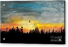 Evening Freedom Acrylic Print