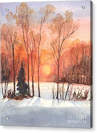 The Evening Glow Acrylic Print