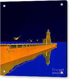 Evening Glow Acrylic Print by Michael Swanson