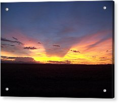 Acrylic Print featuring the photograph Evening Glow by Sheri Keith