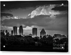 Evening Gray Acrylic Print by Marvin Spates