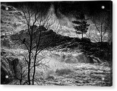 Evening Great Falls Maine Acrylic Print by Bob Orsillo