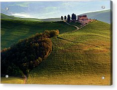 Evening Hills Acrylic Print by Izidor Gasperlin