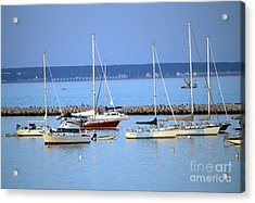 Evening I The Harbor Acrylic Print