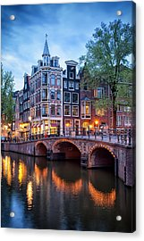 Evening In Amsterdam Acrylic Print