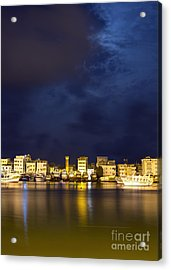 Evening In Ezbet El-borg Acrylic Print by Mohamed Elkhamisy