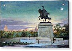 Evening In Forest Park Saint Louis Acrylic Print
