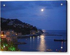 Evening In Rapallo Acrylic Print by Roberto Galli della Loggia