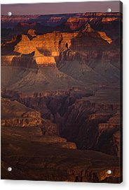 Evening In The Canyon Acrylic Print by Andrew Soundarajan