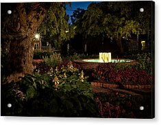 Evening In The Garden Prescott Park Gardens At Night Acrylic Print