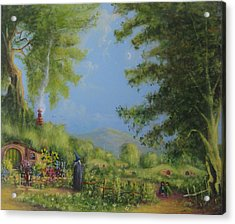 Evening In The Shire. Acrylic Print by Joe  Gilronan