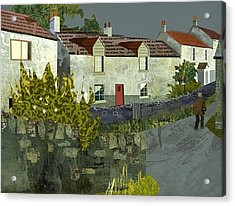 Evening In The Village. Acrylic Print by Kenneth North
