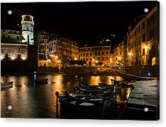 Acrylic Print featuring the photograph Evening In Vernazza - Cinque Terre Italy by Carl Amoth