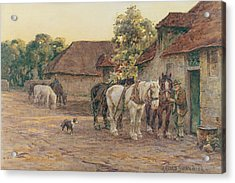 Evening Acrylic Print by Joseph Harold Swanwick