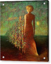 Evening Acrylic Print by Karen Aghamyan