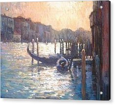 Evening Light On The Grand Canal Acrylic Print by Jackie Simmonds