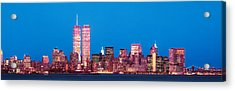 Evening Lower Manhattan New York Ny Acrylic Print by Panoramic Images