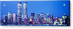 Evening, Lower Manhattan, Nyc, New York Acrylic Print by Panoramic Images
