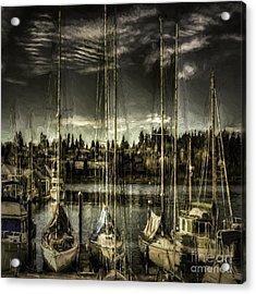 Evening Mood Acrylic Print by Jean OKeeffe Macro Abundance Art