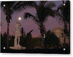 Evening Moon Acrylic Print by Shane Bechler