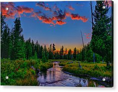 Evening On Lucky Dog Creek Acrylic Print by Greg Norrell