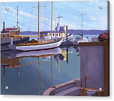 Evening On Malaspina Strait Acrylic Print