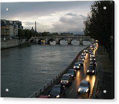 Evening On Pont Au Change  Acrylic Print by Joe Schofield