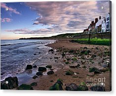 Evening On Sandsend Beach Yorkshire Acrylic Print