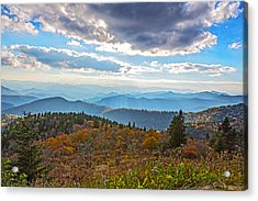 Evening On The Blue Ridge Parkway Acrylic Print