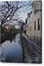 Evening On The Canal Path Acrylic Print