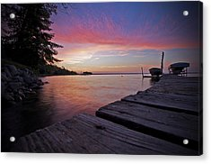 Evening On The Dock Acrylic Print