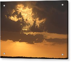Acrylic Print featuring the photograph Evening Over Lake George by Fortunate Findings Shirley Dickerson