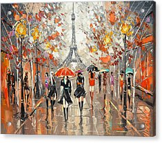 Evening. Paris Acrylic Print