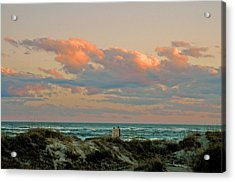 Acrylic Print featuring the photograph Evening Pastel by Allen Carroll