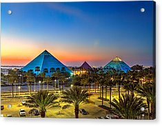 Evening Pyramids Acrylic Print by Tim Stanley